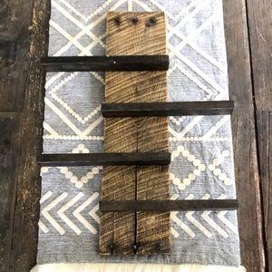 HANDMADE rustic wooden shelf